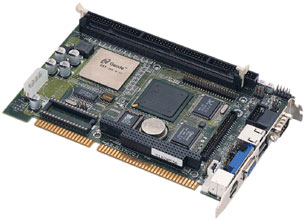 3307552 - Half-Size ISA Slot-bus SBC with Embedded FANLESS NS GEODE GX1 CPU
