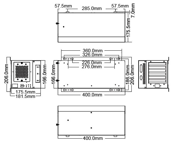 1401422 - 6-SLOT Industrial Wallmount Chassis for Full-Size SBC