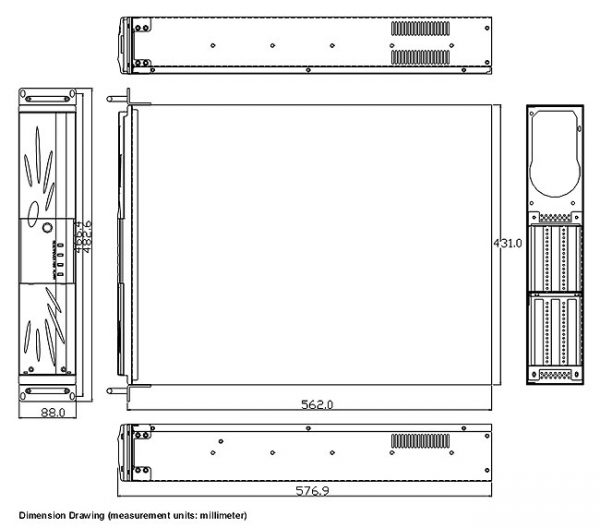 1404552 - 2U 6-SLOT 19 inch Industrial Rackmount Chassis for Full-Size PICMG 1.3 SBC