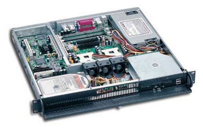 1407750 - 1U Industrial Rackmount Chassis for ATX motherboard