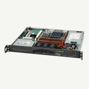 1408001 - 1U 17 inch Industrial Rackmount Chassis for ATX motherboards