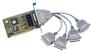 1501050 - Half-size ISA 4 x RS-232 Serial Card