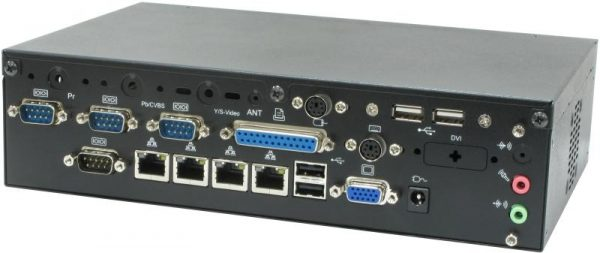 1707678 - Low Profile Wall Mount/Desk Mount Barebone System with 4 x Gigabit LAN and Intel Atom N270 Processor w/ mounting brackets included