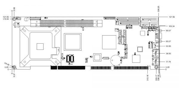 3308400 - Full Size PICMG 1.0 SBC with Socket LGA 775 for Intel Core 2 Duo