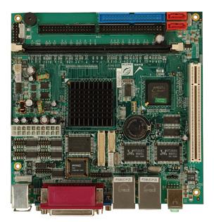 KINO-LX-800-R10 Mini-ITX Motherboard with Embedded AMD Geode LX800 500 MHz Processor-19242