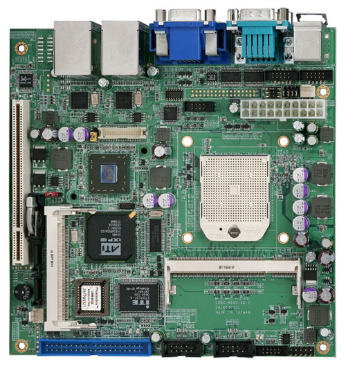 Commell LV-681 Mini-ITX Motherboard with Socket S1 for AMD Mobile Turion 64 / Sempron series processors-0