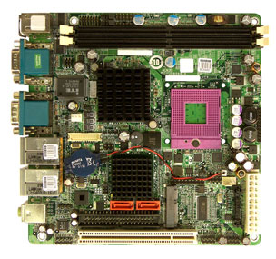 KINO-9652 Mini-ITX Motherboard with Socket P for Intel Core 2 Duo series processors-19336