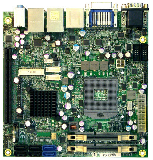 2808258 - Mini-ITX Motherboard with Intel QM67 PCH for Intel 2nd Generation Mobile Core i7 / i5 / i3 Processors