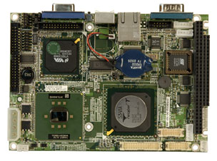 "WAFER-LX2-800-R11 3.5"" Embedded Controller with FANLESS ULV Intel Celeron Processor 400 or 650 MHz -18868"