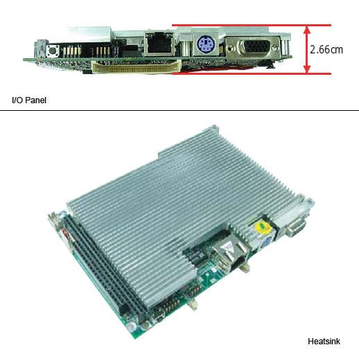 "HS-2605 3.5"" Embedded Controller with Embedded Eden 667 MHz Processor or Eden 1 GHz Proces -0"