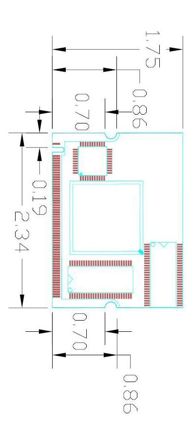 Commell MP-6010 Mini-PCI 4-Channel MPEG4 Hardware Compression Capture Module-19433