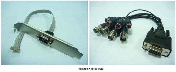4-channel Video/Audio Mini-PCIe H.264 Software Compression Card