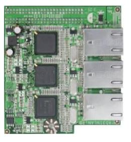 AD3INLANG Daughter board with 3 x Intel 82541 Gigabit LAN