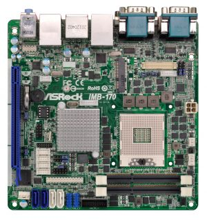 IMB-170 - Mini-ITX Motherboard with Intel QM77 Express Chipset for 3rd Generation Intel Core i3/i5/i7 Mobile Processors