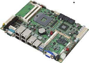 "LS-576-G - 5.25"" Embedded Miniboard with Intel QM77 Express Chipset supporting 2nd and 3rd Generation Intel Core i3/i5/i7 Mobile Processors and 6 x Gigiabit LAN"