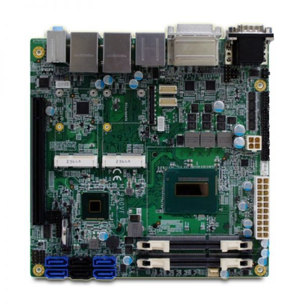 MI980F - Mini-ITX Industrial Motherboard with Intel HM86 Chipset for 4th Generation Intel Core i3/i5/i7 BGA Mobile Processors