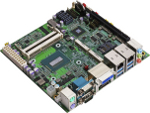 LV-67M-G - Mini-ITX Industrial Motherboard with Intel QM87 Express Chipset supporting 4th Generation Intel Core i3/i5/i7 Mobile BGA Processors
