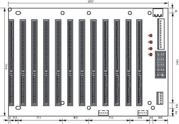 1107731 - 12 Slot (12 x ISA) Passive Backplane