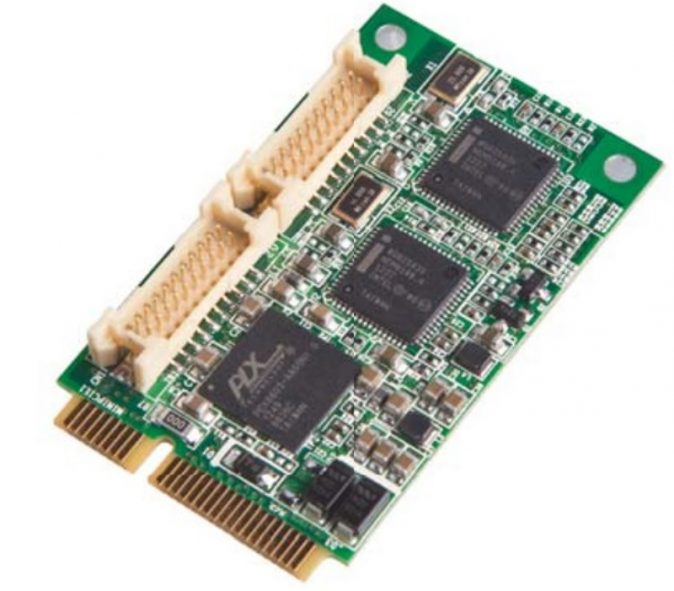 MEC-LAN-M002 - Mini-PCIe 2-Port 10/100/1000 Ethernet Module-0