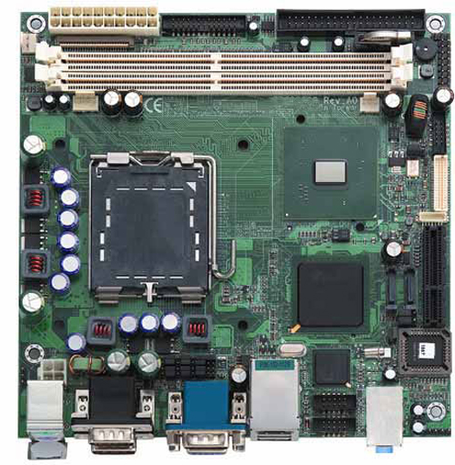 SBC86808VEA LGA775 (Socket T) Mini-ITX Motherboard for Intel Pentium 4 / Celeron D Processor-0