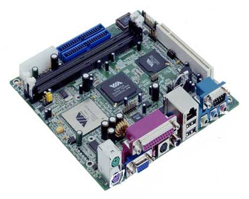 Commell LV-660 Mini-ITX Motherboard with Embedded Low Power FANLESS EDEN 533 MHz CPU-0