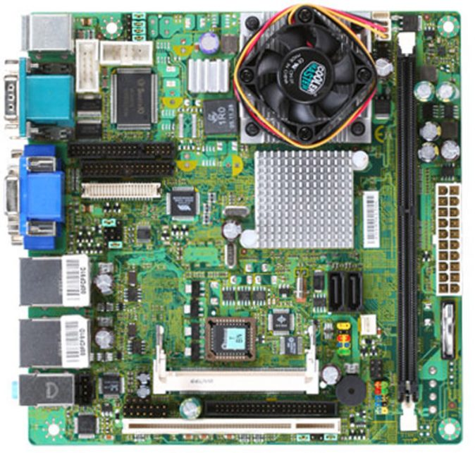 KINO-LX-800-R10 Mini-ITX Motherboard with Embedded AMD Geode LX800 500 MHz Processor-0