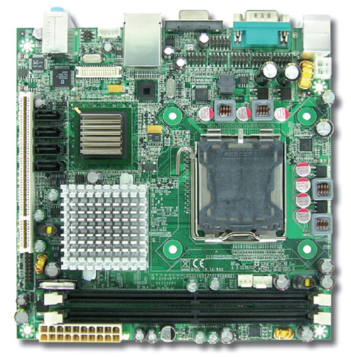 WADE-8056 Mini-ITX Motherboard with Socket LGA 775 for Intel Core 2 Duo / Pentium D / Pentium 4 series processors-0
