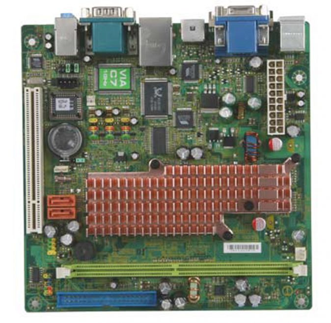 CN700G Mini-ITX Motherboard with Embedded C7 Eden series processor-0