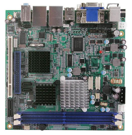 MI810 Mini-ITX Motherboard with Embedded Fanless Intel Atom N270 1.6 GHz Processor-0