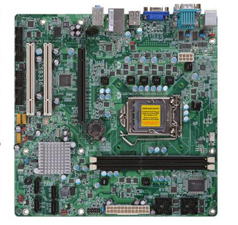 SB336-Ni Micro-ATX Motherboard with Intel H61 Express Chipset for 2nd Generation Intel Core i3 / i5 / i7 Desktop Processors