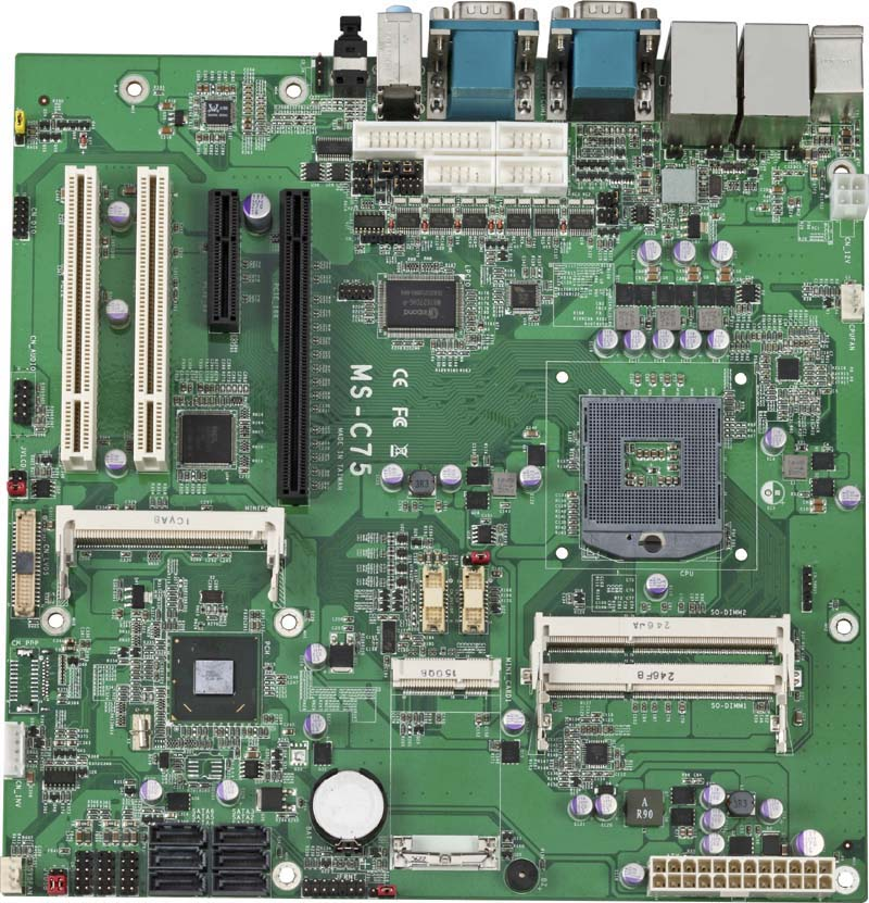 MS-C75-G - Micro ATX Industrial Motherboard with Intel QM77 Express Chipset for 3rd Generation Intel Core i3/i5/i7 Mobile Processors
