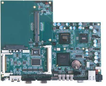 HS-8601 Motherboard with Embedded Fanless Intel ATOM N270 1.6 GHz Processor for use in Panel PC-0