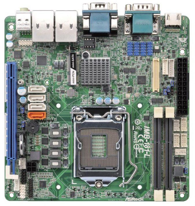 Mini-ITX Industrial Motherboard with Intel Q87 Chipset for 4th Generation Intel Core i3/i5/i7 Desktop Processors