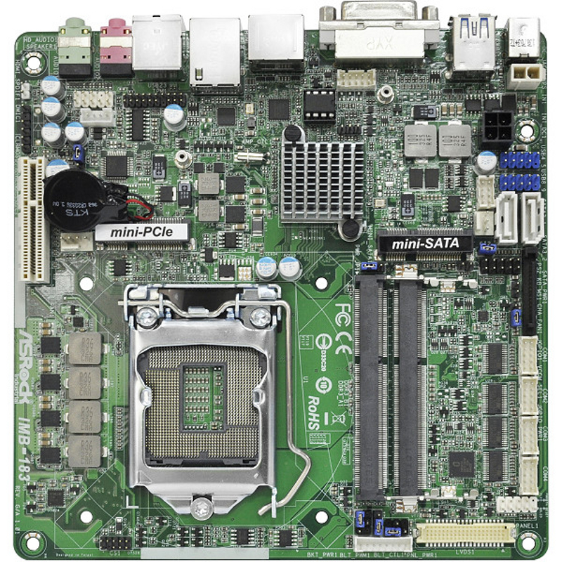 IMB-183 - Thin Mini-ITX Industrial Motherboard with Intel H81 Express Chipset supporting 4th Generation Intel Core i3/i5/i7 Desktop Processors