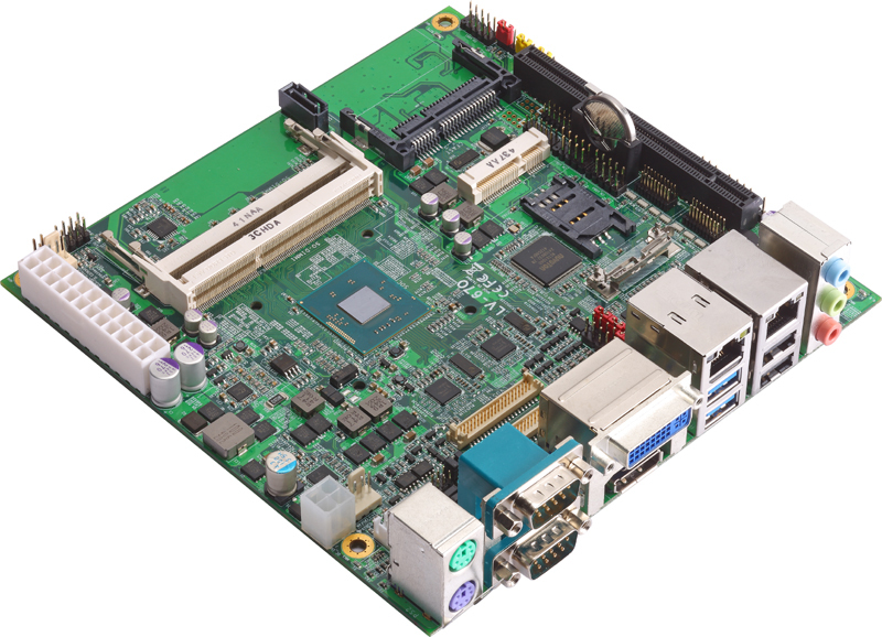 LV-67O-G - Mini-ITX Industrial Motherboard supporting the Intel Celeron J1900, Intel Celeron N2930 and the Intel Atom E3845 SoC Processors