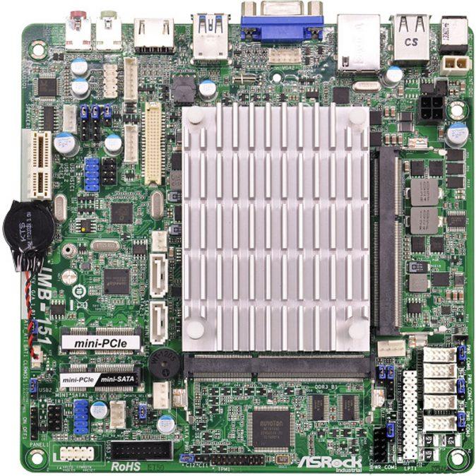 IMB-151 - Thin Mini-ITX Industrial Motherboard with Intel Celeron J1900 or N2930 processor