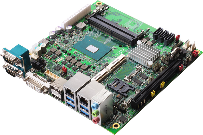 LV-67R-G - Mini-ITX Industrial Motherboard with Intel QM170 Chipset supporting Intel 6th Generation Core i3/i5/i7 H-Series Mobile Processors