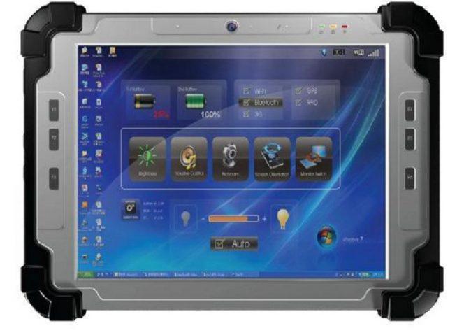T104 Ruggedized Tablet PC featuring the Intel Atom Processor N2600