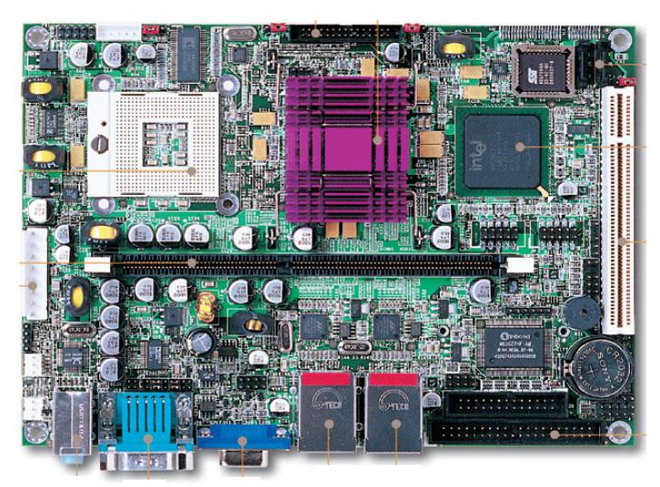 "PEB-3718VG2A 5.25"" Embedded Controller with Socket 479 for Intel Pentium M / Celeron M Processor, FSB 400/533 Mhz -0"
