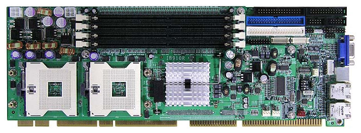 IB910 Full Size PICMG 1.2 (PCI-X) SBC with two socket 604s for two Intel Xeon processors -0