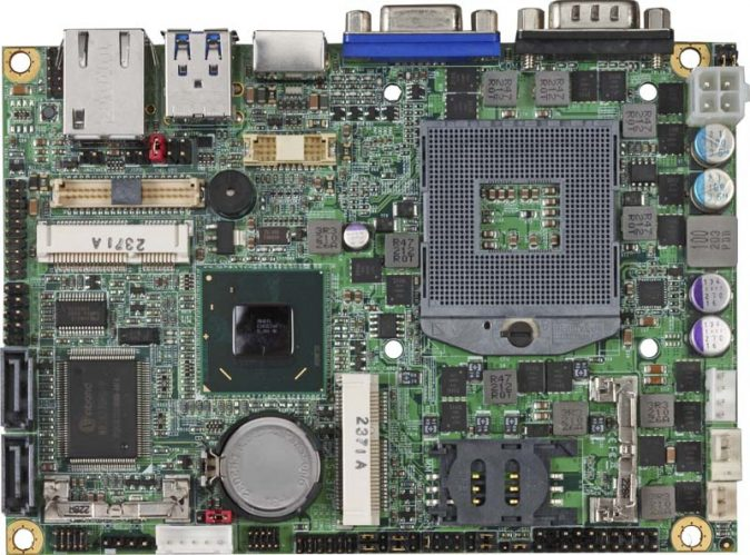 """3.5"""" Embedded Mini Board with Intel QM77 Express Chipset supporting 2nd and 3rd Generation Intel Core i3/i5/i7 Mobile Processors"""