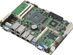 """LS-576-G - 5.25"""" Embedded Miniboard with Intel QM77 Express Chipset supporting 2nd and 3rd Generation Intel Core i3/i5/i7 Mobile Processors and 6 x Gigiabit LAN"""